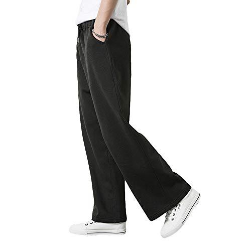 Taille Décontracté Couleur Pantalon De Unie Homme Large Nordira Pour Surdimensionné Yoga Coupe Gris Élastique 8CwcXY