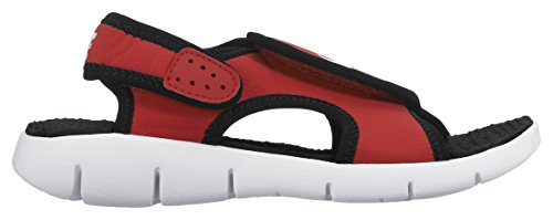 Nike Sunray Adjust 4 (Gs/Ps), Chanclas para Niños Rojo / Blanco / Negro (University Red / White-Black)