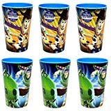 6-Pack Disney-Pixar Toy Story Metallix Graphics 10oz BPA-Free Plastic Reusable Kids -