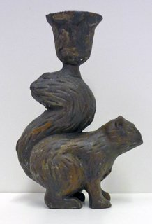 Cast Iron Squirrel Candleholder by Trade Routes NW