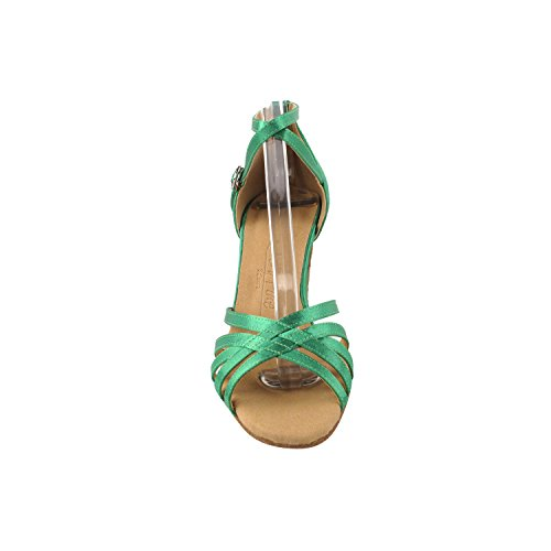 50 Shades Of Green/Yellow Dance Dress Shoes Collection, Comfort Evening Pumps: Women Ballroom Shoes For Latin, Tango, Salsa, Swing, Theather Art by Party Party (2.5