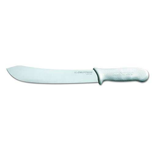 Sani-Safe S112-10-PCP 10'' White Butcher Knife with Polypropylene Handle by Sani-Safe (Image #2)'