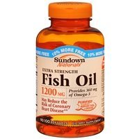 Sundown Naturals Extra Strength Fish Oil, 1200mg, Softgels,