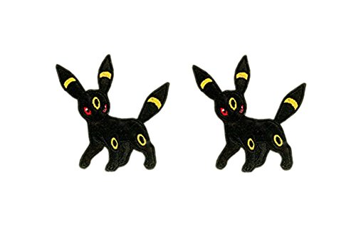 Application Pokemon UmbreonTheme Cosplay Applique Patch Great Gift for Parties, Decoration. Or Collecting! J&C Family Owned Brand 2-Pack Gift Set -