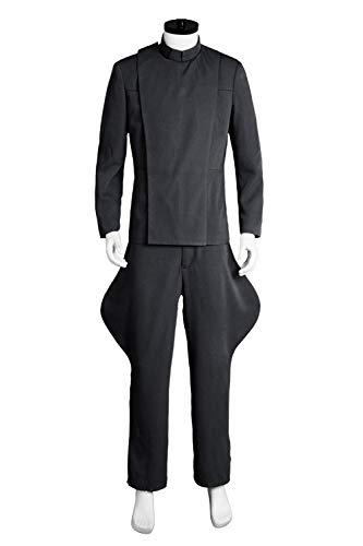 GOTEDDY Men Halloween Imperial Officer Grey Uniform Cosplay Costume -