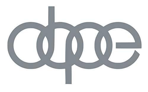 UR Impressions Silv Dope Decal Vinyl Sticker Graphics for Audi A3 A4 A5 A6 A8 Allroad S4 S5 S6 S7 RS 3 4 5 7 TT R8 Q3 Q5 SQ5 Q7 Cars SUV Walls Windows Laptop|Silver|7 X 4.1 inch|URI232-S