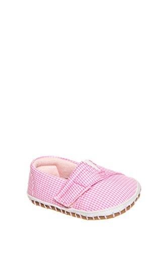 TOMS Kids Unisex Crib Alparagata (Infant/Toddler) Pink Gingham 1 M US Infant -