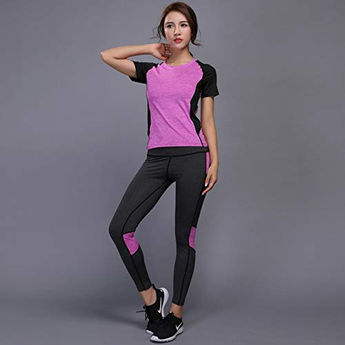 9af17d3a783fba Image Unavailable. Image not available for. Color: Women Yoga Set Running  2pcs/setgym Clothes Running Compression Shirt Pants Tight Leggings Jogging  Workout