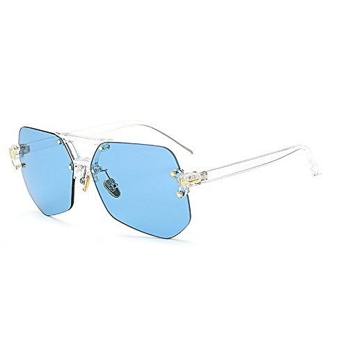 Sunglasses Women Aviator Sun Glasses Blue Color Brand Design - 5