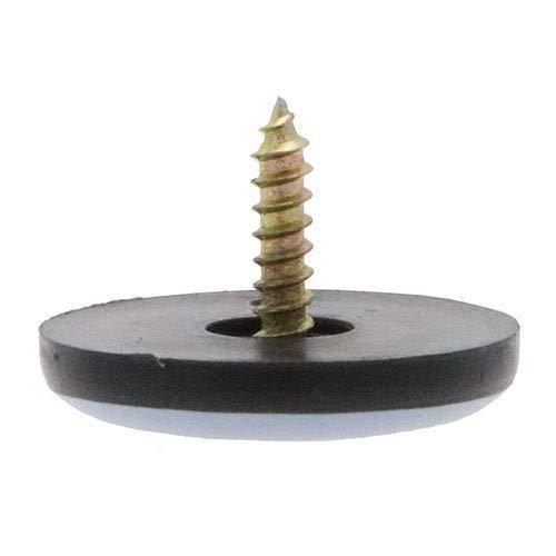 VitalGlides 4 unidades de deslizador de muebles de tefl/ón 38 mm atornillado deslizamiento de tefl/ón deslizadores de base de tefl/ón deslizadores