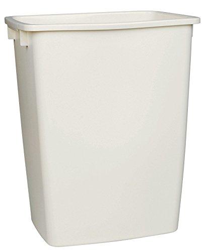 - RHP2806TPWHI Open-Top Wastebasket, Rectangular, Plastic, 9 gal, White