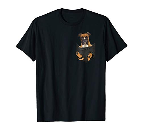 T-shirt Mens Dogs Boxer (Dog in Your Pocket Boxer Dog t shirt tee shirt)