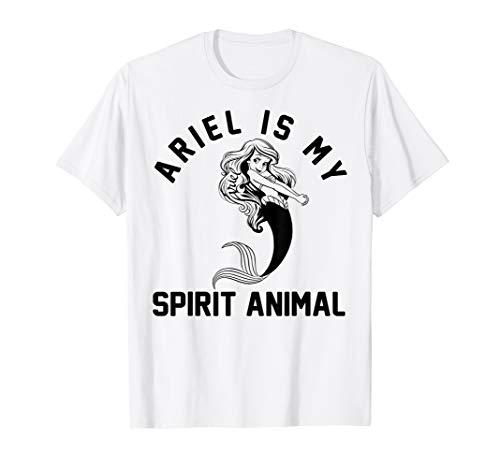 (Disney Little Mermaid Ariel My Spirit Animal Graphic T-Shirt)