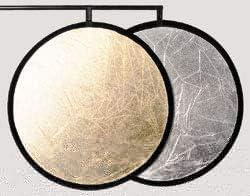 Photography Foldable Reflector 42 Glitter Silver//Glitter Gold