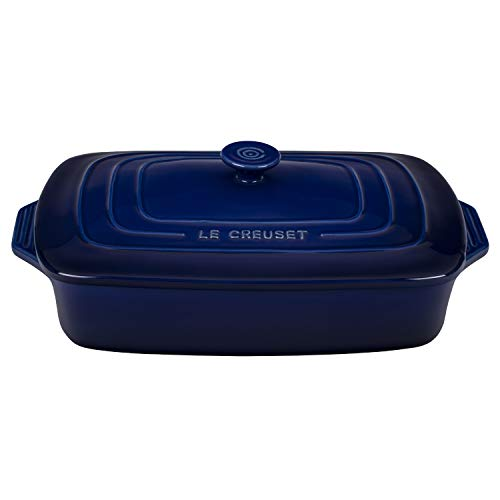 Le Creuset Indigo Stoneware Covered 3.5 Quart Rectangular Casserole Dish
