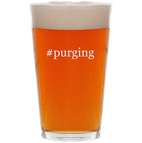 #purging - 16oz Hashtag Pint Beer Glass -