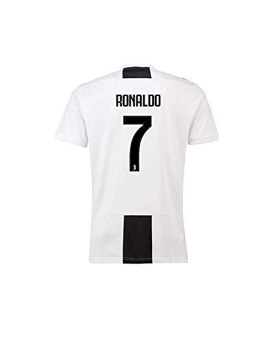 WRJJYE3 Ronaldo Juventus  7 Home Soccer Jersey Mens 2018-2019 Black White  (M) 0d2f16e6d