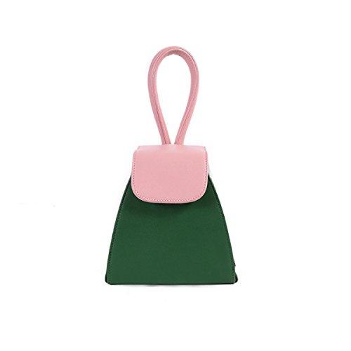 The Portable Messenger Bag Fashion Shoulder Pu Leather Green