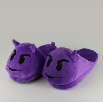 new product 91b84 f9610 purple, 9 : FeiYiTu plush winter slippers indoor animal ...