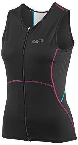 Louis Garneau Women's Tri Comp Sleeveless Triathlon Top, Black/Purple/Green, Large