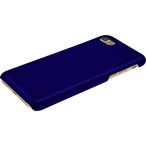 PhoneNatic Case für Apple iPhone 8 Hülle blau gummiert Hard-case für iPhone 8 + 2 Schutzfolien