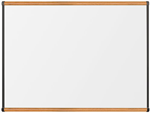 Best-Rite Premium Porcelain Origin Trim Magnetic Dry Erase Whiteboard, 3 x 4 Feet, Medium Oak Trim (202OC-02) by Best-Rite