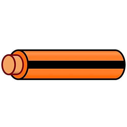 (K4 Auto & Marine Primary Electrical Wire Orange W/Black Stripe 18 Gauge 100 Feet)