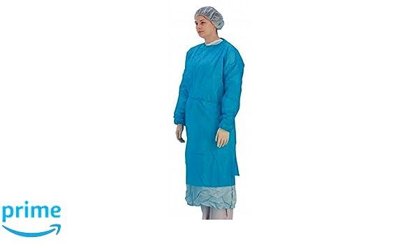 Premier de manga larga (desechable, stockinette puños, azul, pack de 10 (5519): Amazon.es: Salud y cuidado personal