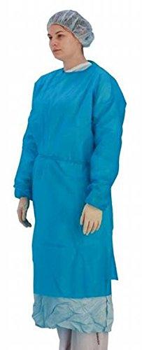 Premier de manga larga (desechable, stockinette puños, azul, paquete de 50 (