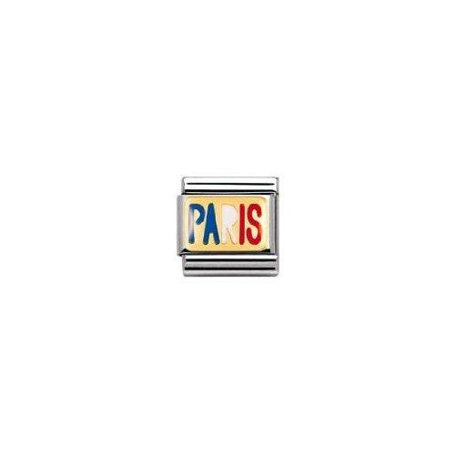 Nomination 030231 - Maillon pour bracelet composable - Femme - Acier inoxydable et Or jaune 18 cts