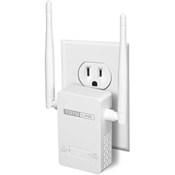 TOTOLINK N300 WiFi Range Extender WiFi Extender Wireless Repeater WiFi Booster w/ External Antenna for Better Home Coverage to Smart Home and Alexa devices (EX200)