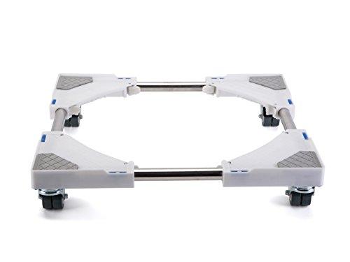 Smonter multifonctions Mobile Base avec 4× 2verrouillage en caoutchouc Roues pivotantes Housse de Coque Roller Dolly pour machine à laver, sèche et réfrigérateur
