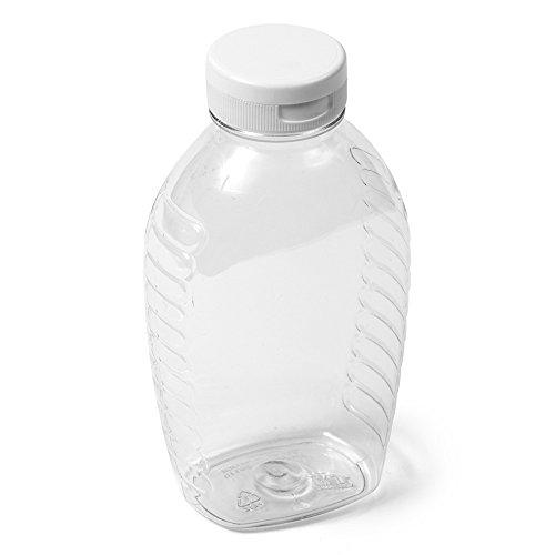 Clear Oval Honey Jar - 1 lb White Flip Cap