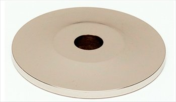 Alno A815-1P-PN Traditional Knob Cabinet Backplate (Polished Knob Nickel Backplates Traditional)