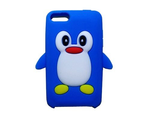 Tsmine for iPod Touch 2nd/3rd Gen Case Cover - Cute 3D Penguin Cartoon Soft Silicone Case Back Cover Protective Skin for Apple iPod Touch 2nd/3rd Gen, Navy Blue