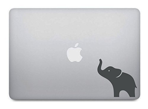 Grey Elephant Macbook Decal Removable