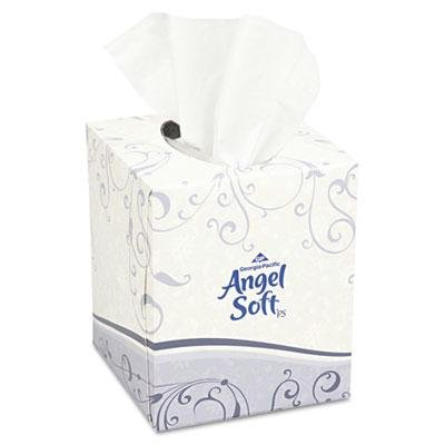 - Angel Soft ps Premium White Facial Tissue - Premium Facial Tissue, Cube Box, 96 Sheets/Box, White