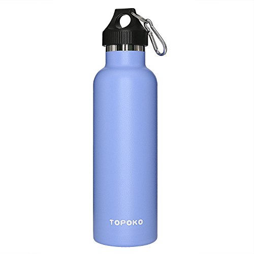- TOPOKO 25 oz Stainless Steel Vacuum Insulated Water Bottle, Keeps Drink Cold up to 24 hours & Hot up to 12 hours, Leak Proof and Sweat Proof. Large Capacity Sports Bottle (Skyblue)