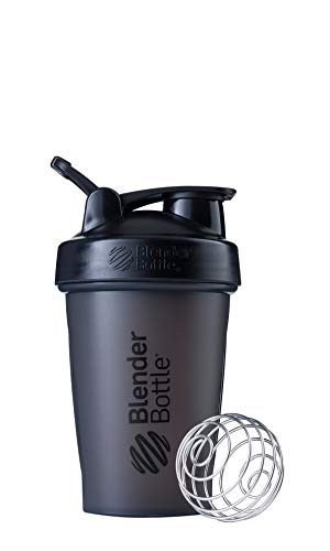 BlenderBottle Classic Loop Top Shaker Bottle, 20-Ounce, Full Color Black (Best Blender For Protein Shakes)