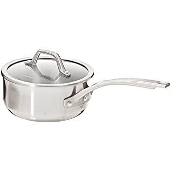Calphalon AccuCore Stainless Steel Shallow Sauce Pan with Cover, 2.5-Quart