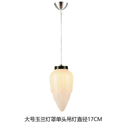 Chandelier Magnolia Large (YYHAOGE Chandeliers/Ceiling Light Three Head Restaurant Chandeliers Single Head Dining Room Light Bar Lights Aisle Founded Bedroom, White Magnolia Cover Large Single Head Chandelier Diameter 17Cm)