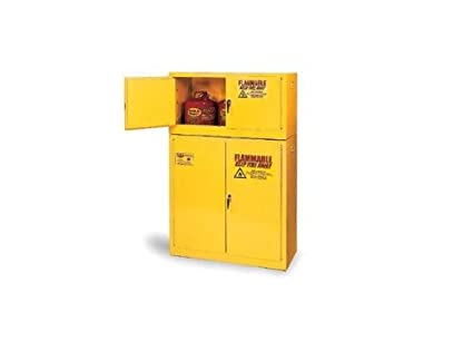 Eagle Safety Cabinet for Flammable Liquids, 2 Self-Closing Doors ...