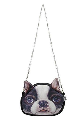 Small Shoulder Handbag Puppy Tote Head Bulldog Women Purse Animal Dog Bag Theme Bulldog Crossbody Girls Dog Cute Bag Face Csual Fashion 3D Travel ZZqzx6wO