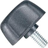 DimcoGray Black Thermoplastic Wingnut Knob, Zinc Stud: 1/4-20'' Thread x 3/4'' Length, 1-1/4'' Diameter x 13/16'' Height x 1/2'' Hub Dia x 1/8'' Hub Length (Pack of 10)