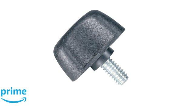 Pack of 10 Zinc Stud 1//4-20 Thread x 1//2 Length DimcoGray Black Thermoplastic Wingnut Knob 1-1//4 Diameter x 13//16 Height x 1//2 Hub Dia x 1//8 Hub Length