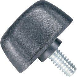 DimcoGray Black Thermoplastic Wingnut Knob, Zinc Stud 1/4-20