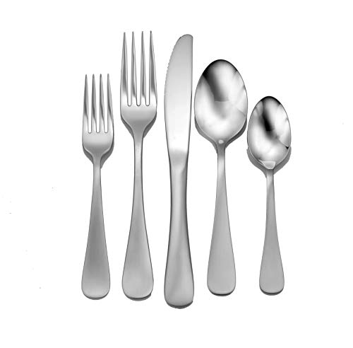 - Liberty Tabletop Satin Annapolis 20 Piece Flatware Set service for 4 stainless steel 18/10 Made in USA