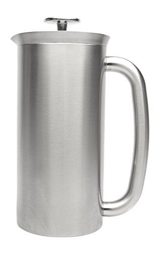 Espro Coffee Press P7-32 oz Double Wall Vacuum Insulated Brushed Stainless Steel Coffee Press, FFP
