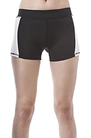 Color Block Workout Sport Wear Shorts (Small, Black/White)