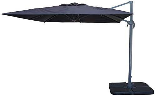 Easywind – Sombrilla (mástil Separado 3 x 3 m – Fohen – Forma Cuadrada, Stratis Gris: Amazon.es: Jardín